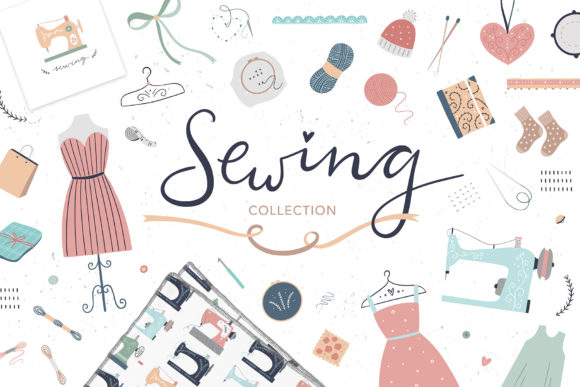 Download Free Sewing Collection Graphic By Redchocolate Creative Fabrica for Cricut Explore, Silhouette and other cutting machines.