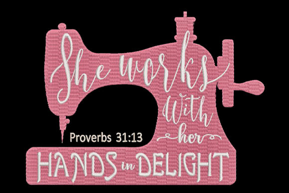 Sewing Machine with Quote from the Bible Sewing & Crafts Embroidery Design By Embroidery Shelter