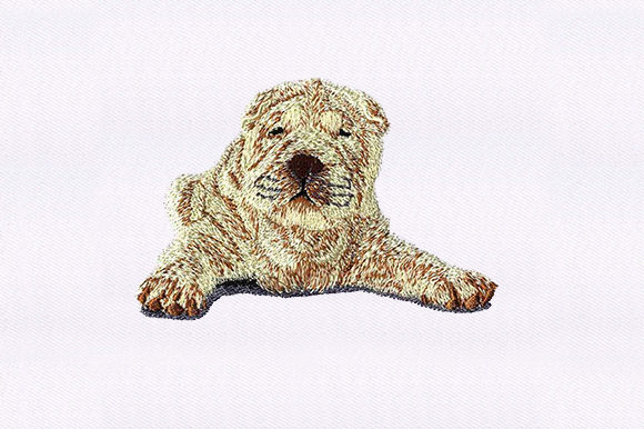 Shar Pei Dogs Embroidery Design By DigitEMB