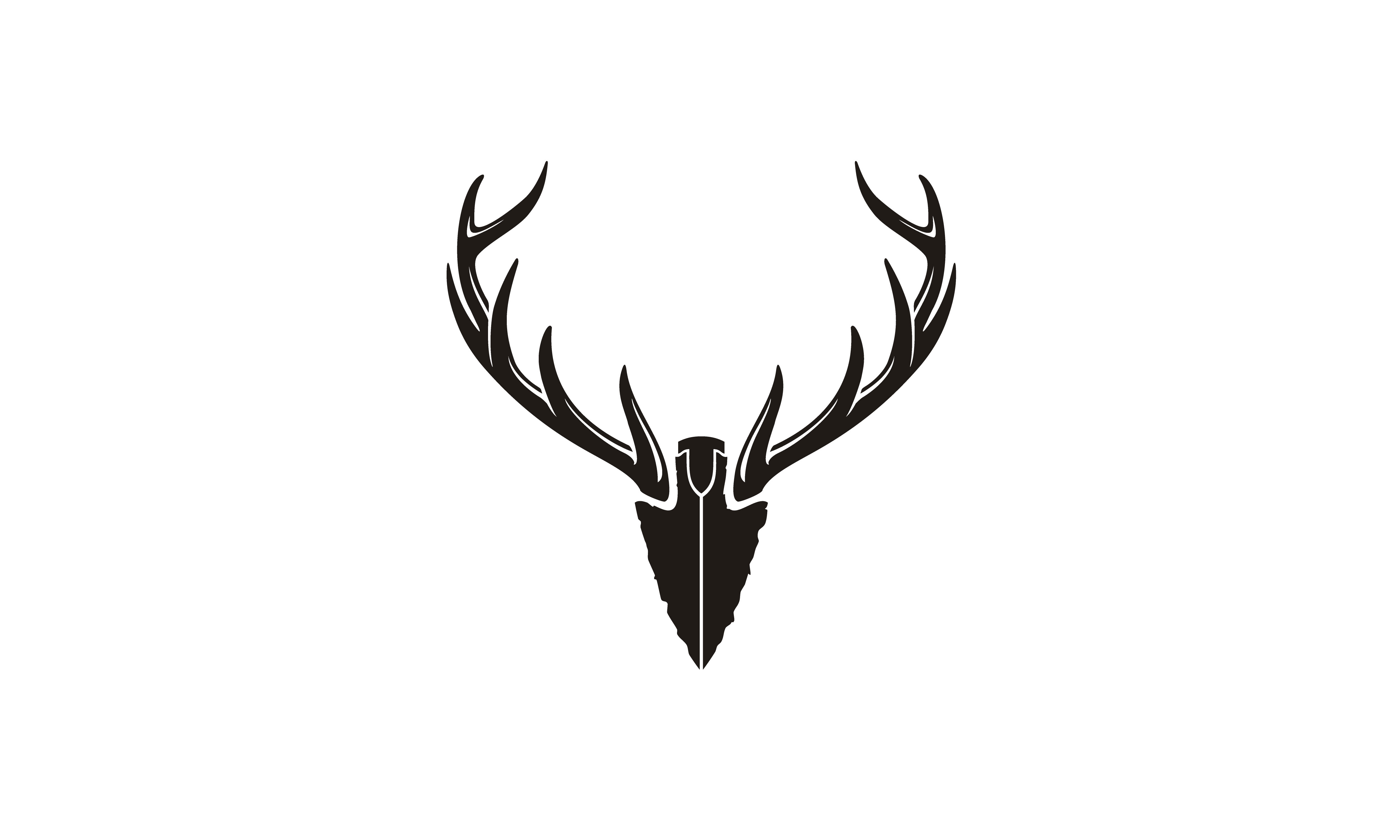 Download Free Spear Deer Antler Arrowhead Hunting Logo Graphic By Enola99d for Cricut Explore, Silhouette and other cutting machines.