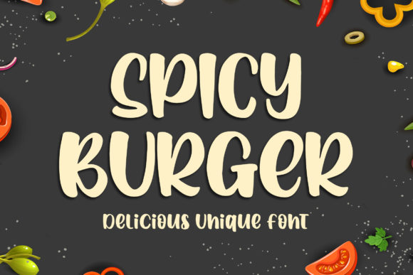 Print on Demand: Spicy Burger Display Schriftarten von Blankids Studio
