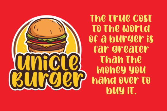 Print on Demand: Spicy Burger Display Font By Blankids Studio - Image 2