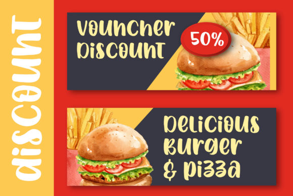 Print on Demand: Spicy Burger Display Font By Blankids Studio - Image 5