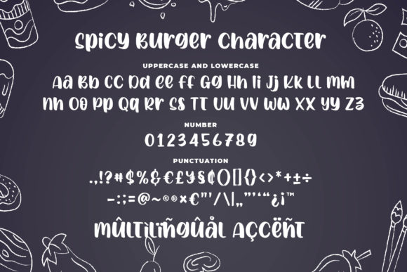 Print on Demand: Spicy Burger Display Font By Blankids Studio - Image 6