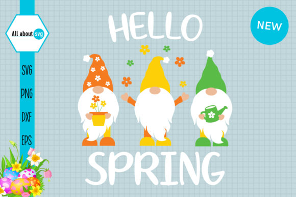 Spring Gnomes Graphic Crafts By All About Svg
