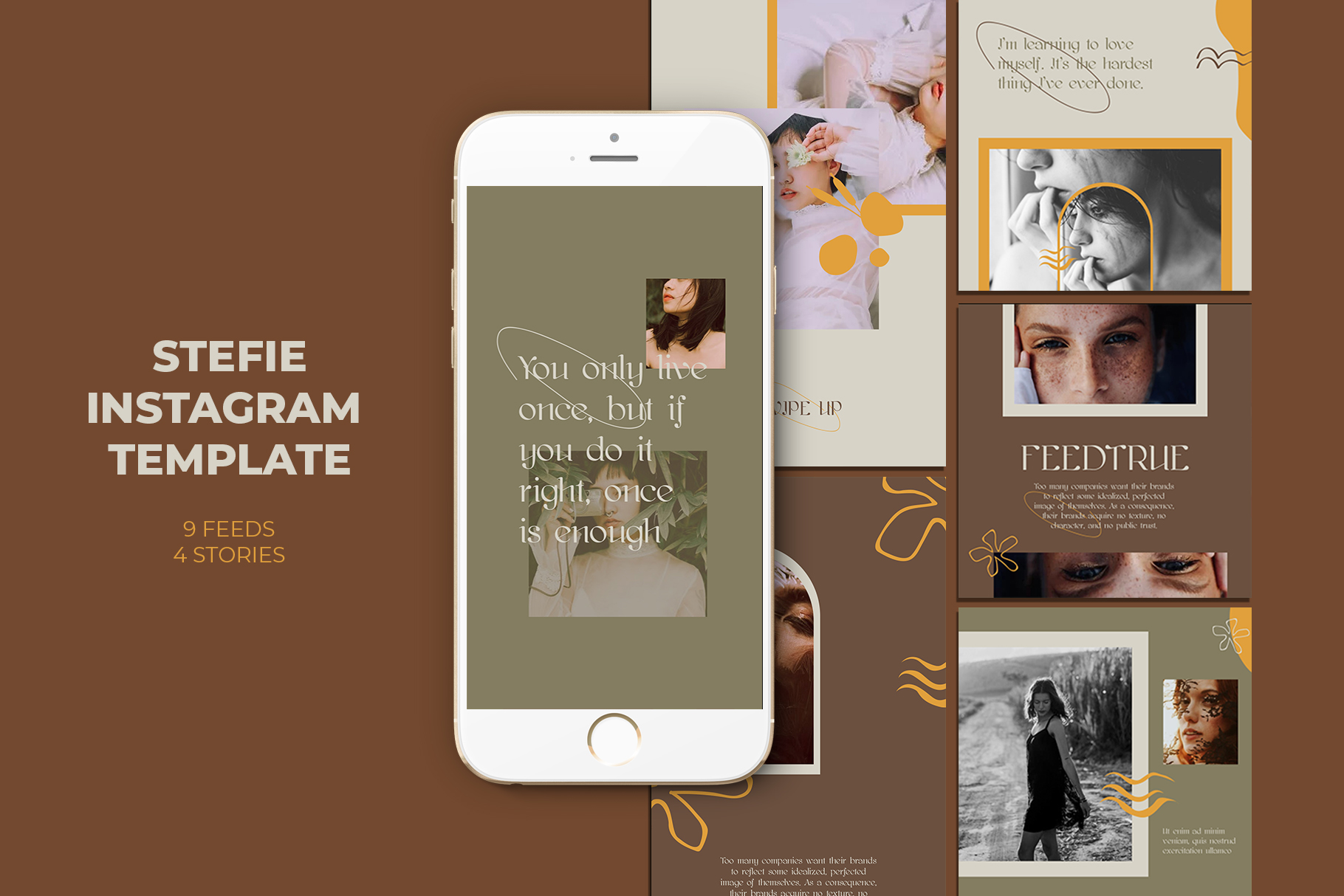 Download Free Stefie Instagram Templates Graphic By Qohhaarqhaz Creative Fabrica for Cricut Explore, Silhouette and other cutting machines.
