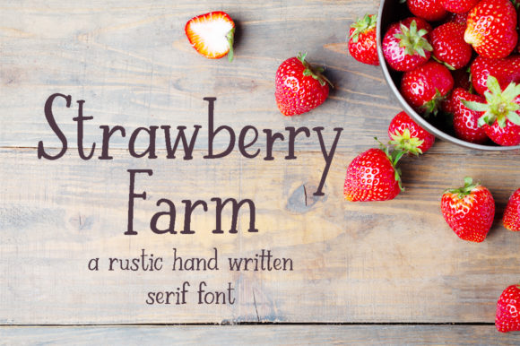 Print on Demand: Strawberry Farm Serif Font By Jennifer Chow