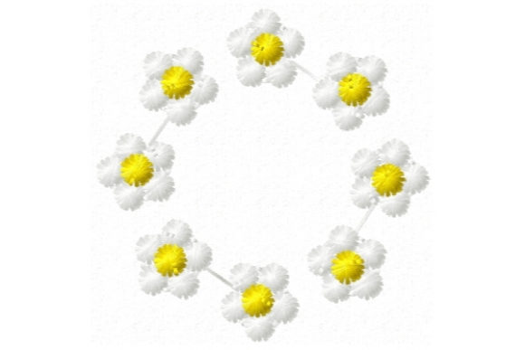 Sweet Mylar Flower Floral Wreaths Embroidery Design By Sue O'Very Designs