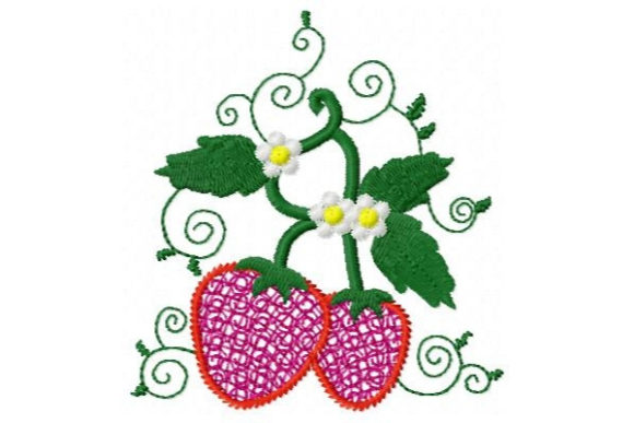 Sweet Mylar Strawberries Bouquets & Bunches Embroidery Design By Sue O'Very Designs