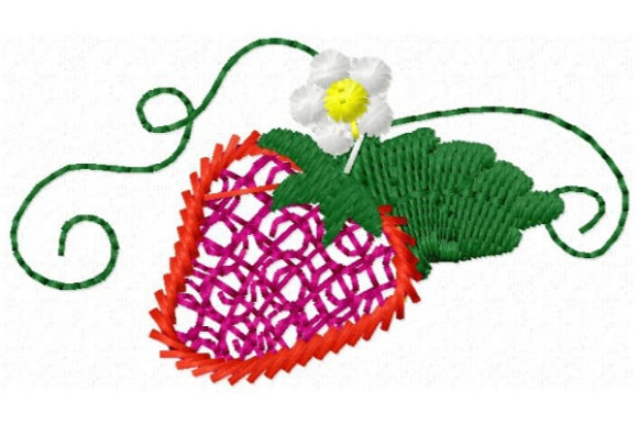 Sweet Mylar Strawberry Bouquets & Bunches Embroidery Design By Sue O'Very Designs