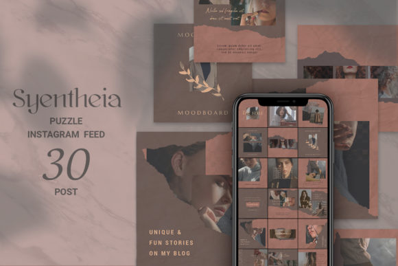 Download Free Syentheia Puzzle Instagram Feed Graphic By Qohhaarqhaz for Cricut Explore, Silhouette and other cutting machines.