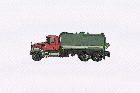 Tanker Transportation Embroidery Design By DigitEMB