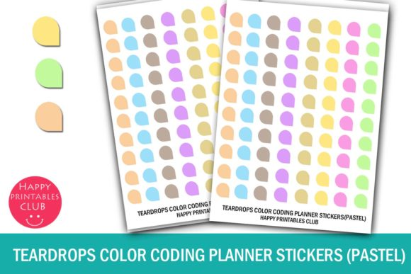 Download Teardrops Color Coding Planner Stickers