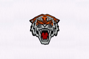 Tiger Face Wild Animals Embroidery Design By DigitEMB