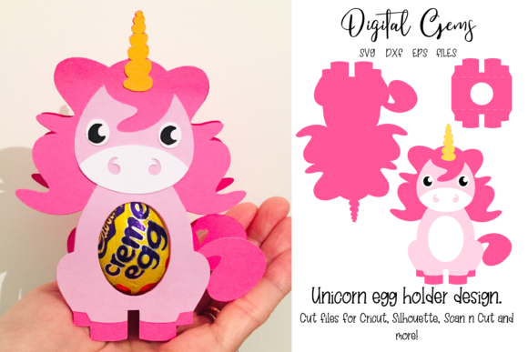 Unicorn Egg Holder Design Gráfico SVG en 3D Por Digital Gems