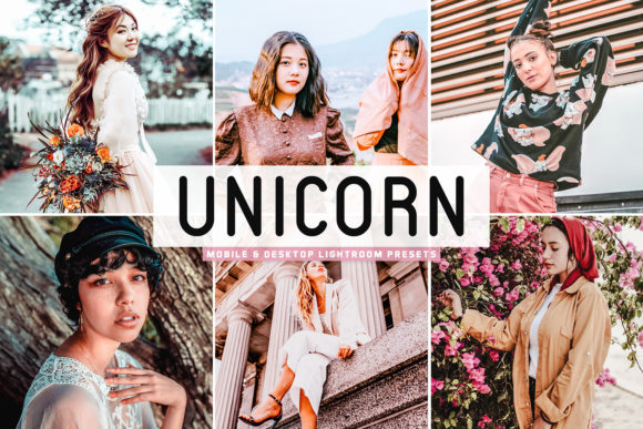 Print on Demand: Unicorn Lightroom Presets Pack Graphic Actions & Presets By Creative Tacos