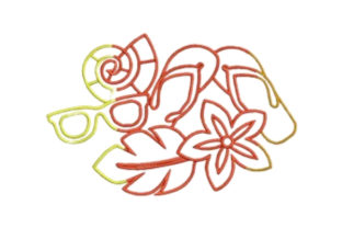Summer Clothes Summer Embroidery Design By designsbymira