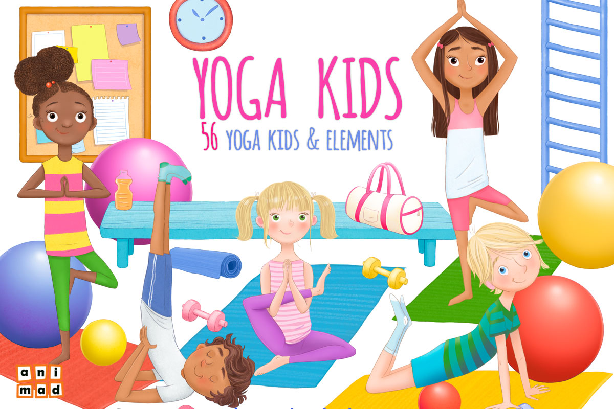 Yoga Kids Graphic By Animaddesign Creative Fabrica