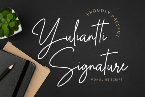 Download Free Yuliantti Signature Font By Lyanatha Creative Fabrica for Cricut Explore, Silhouette and other cutting machines.
