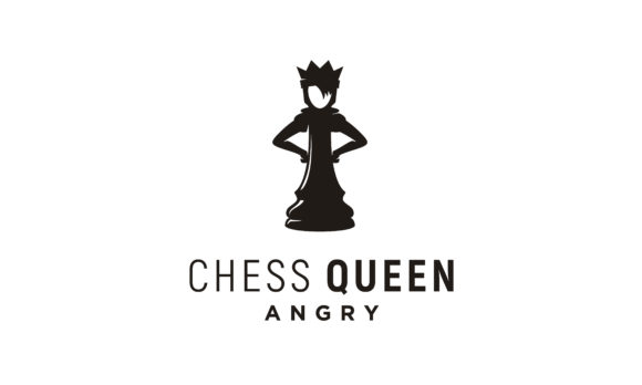 Download Free Angry Queen Chess Logo Design Graphic By Enola99d Creative Fabrica for Cricut Explore, Silhouette and other cutting machines.