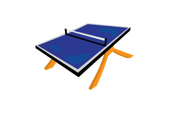 Ping Pong Table Games Craft Cut File By Creative Fabrica Crafts - Image 1