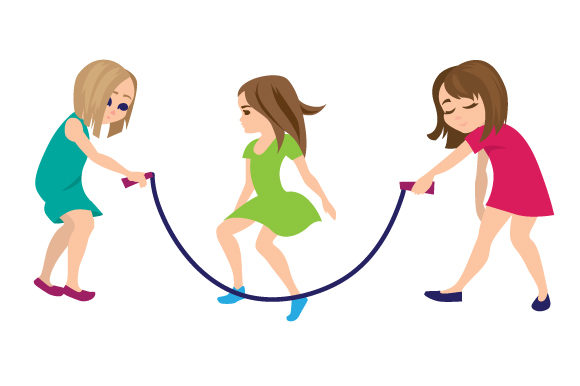 Download Free Kids Jumping Rope Svg Cut File By Creative Fabrica Crafts for Cricut Explore, Silhouette and other cutting machines.