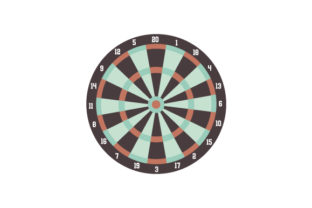 Dart Board Games Craft Cut File By Creative Fabrica Crafts