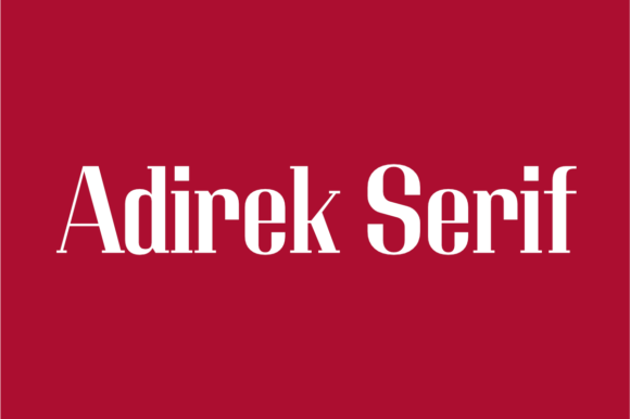 Print on Demand: Adirek Serif Serif Font By Jipatype