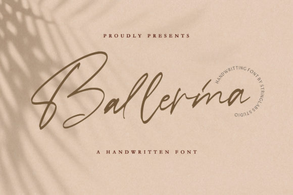 Print on Demand: Ballerina Script & Handwritten Font By StringLabs