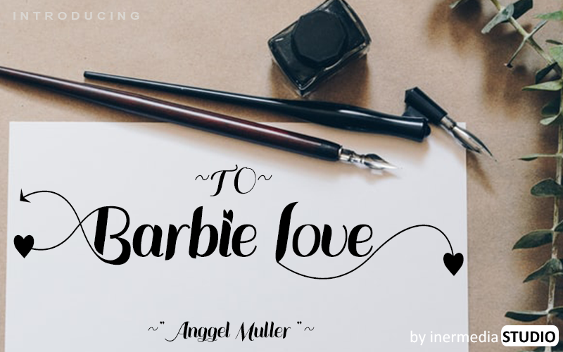 Download Free Barbie Love Font By Inermedia Studio Creative Fabrica for Cricut Explore, Silhouette and other cutting machines.