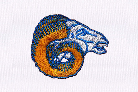 Bighorn Sheep Face Farm Animals Embroidery Design By DigitEMB