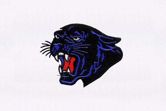 Black Panther Face Wild Animals Embroidery Design By DigitEMB