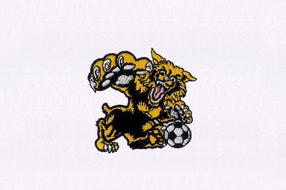 Cheetah Playing Soccer Wild Animals Embroidery Design By DigitEMB