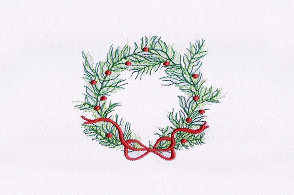 Cherry Wreath Floral Wreaths Embroidery Design By DigitEMB