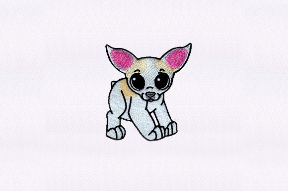 Chihuahua Dogs Embroidery Design By DigitEMB