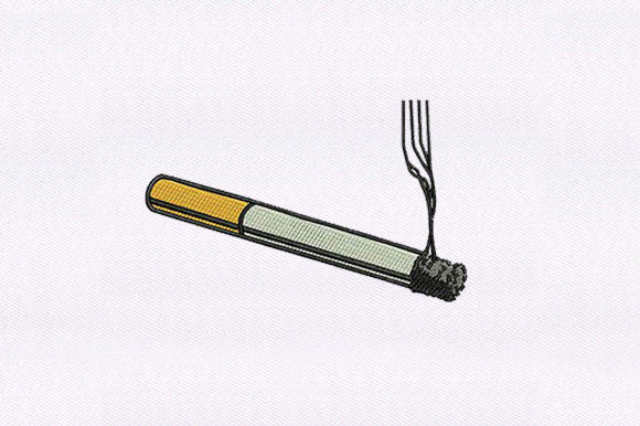 Cigarette Accessories Embroidery Design By DigitEMB