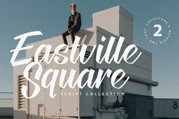 Print on Demand: Eastville Square Script & Handwritten Font By cultivatedmind.types