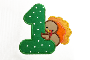 First Thanksgiving Turkey Applique Thanksgiving Embroidery Design By DesignedByGeeks