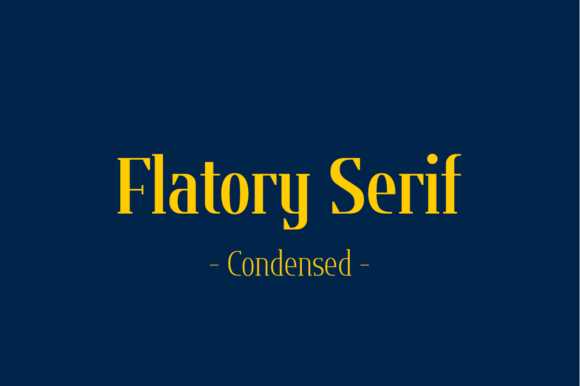 Print on Demand: Flatory Serif Condensed Serif Font By Jipatype