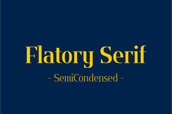 Print on Demand: Flatory Serif SemiCondensed Serif Font By Jipatype