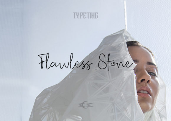 Print on Demand: Flawless Stone Manuscrita Fuente Por Typeting Studio