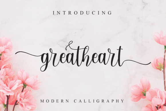 Print on Demand: Greatheart Script & Handwritten Font By MJB Letters