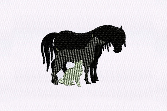 Horse, Dog and Cat Animals Embroidery Design By DigitEMB - Image 1