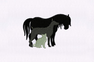 Horse, Dog and Cat Animals Embroidery Design By DigitEMB