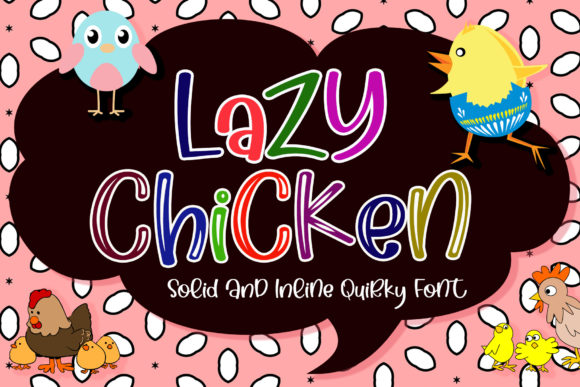 Print on Demand: Lazy Chicken Script & Handwritten Font By airotype