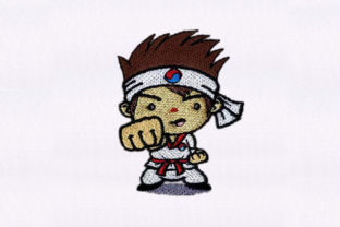 Martial Arts Kid Hobbies & Sports Embroidery Design By DigitEMB