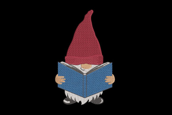 Print on Demand: Reading Gnome Boys & Girls Embroidery Design By Embroidery Shelter