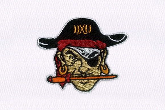 Red Tricorne Pirate Pirates Embroidery Design By DigitEMB