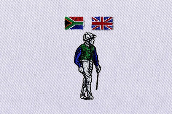 SA,UK Flag Polo Player Hobbies & Sports Embroidery Design By DigitEMB