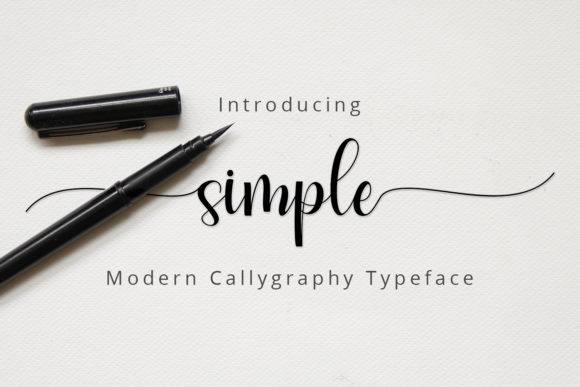 Print on Demand: Simple Script & Handwritten Font By zulkhairilettering